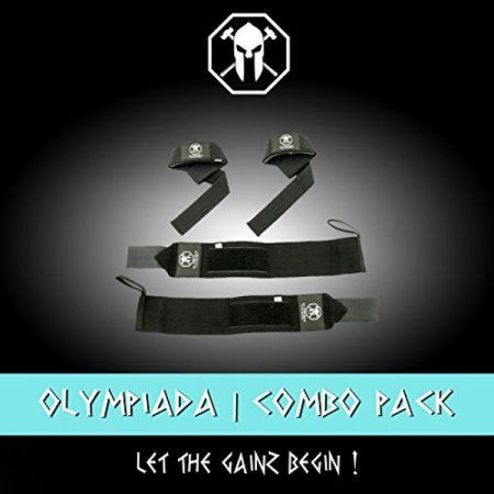 a3be0e28662 Olympiada Wrist Wraps + Lifting Straps Bundle for Weightlifting