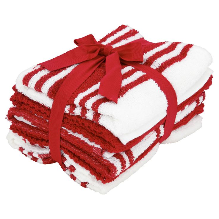 Tea Towels Red And White 5pk