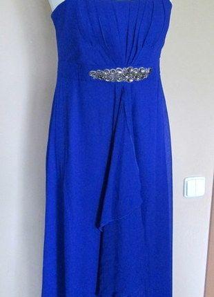Kup mój przedmiot na #vintedpl http://www.vinted.pl/damska-odziez/sukienki-wieczorowe/9519532-nowa-piekna-kobaltowa-suknia-sukienka-per-una-40
