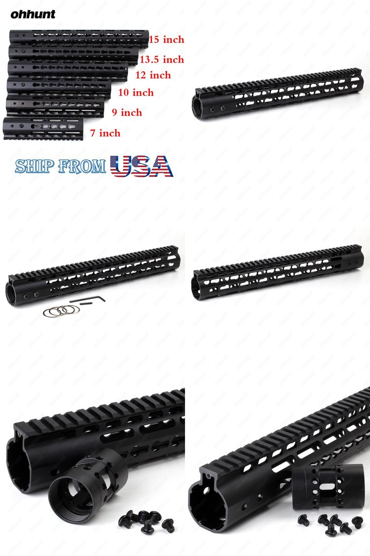 """[Visit to Buy] Ohhunt Slim Style 7"""" 9"""" 10"""" 12"""" 13.5"""" 15"""" AR15 Free Float Keymod Handguard Picatinny Rail for Hunting Tactical Rifle Scope Mount #Advertisement"""