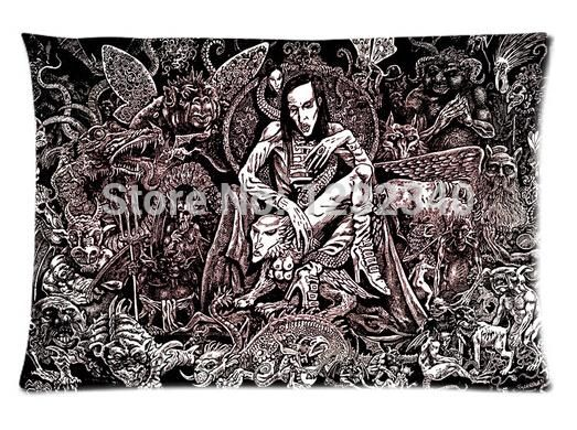 Cool Pillowcase Marilyn Manson Style Pillow Case (Twin Sides)(20x30 Inch) #Affiliate