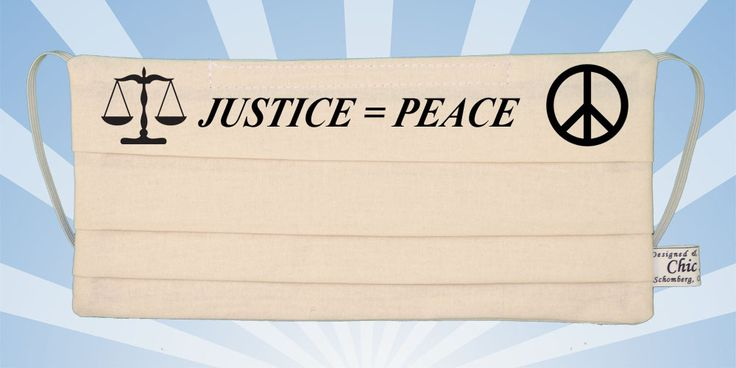 Justice Equals Peace Cream White Mask