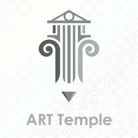 Art+Temple+logo+pencil+gallery+design+greek