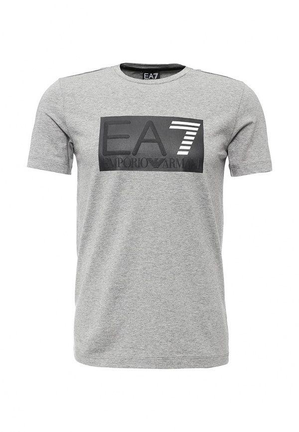 Футболка EA7  Футболка EA7. Цвет: серый.  Сезон: Осень-зима 2016/2017. Одежда, обувь и аксессуары/Мужская одежда/Одежда/Футболки