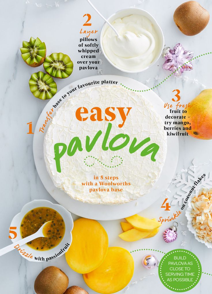 How to make a quick, easy and delicious pavlova, perfect for summer!