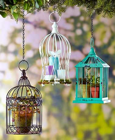 This Decorative Metal Birdcage adds vintage charm to your home or garden. Fill it with your favorite flowers, plant or LED candles.