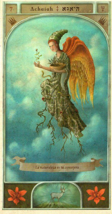 (7) ACHAIAH (Kabbalistic angel) protects those born 21 - 25 April, eases decision-making and enables patience. (ángel Cabalístico) proteje aquellos nacidos 21 - 25 abril, facilita la toma de decisiones y permite tener paciencia.