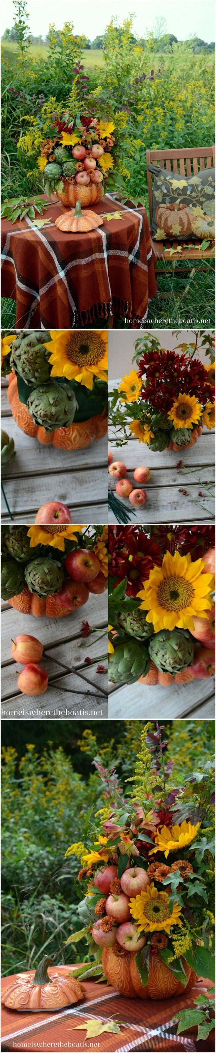 From Pumpkin Tureen to Seasonal Centerpiece! Big bang for little $.  LOVE it!
