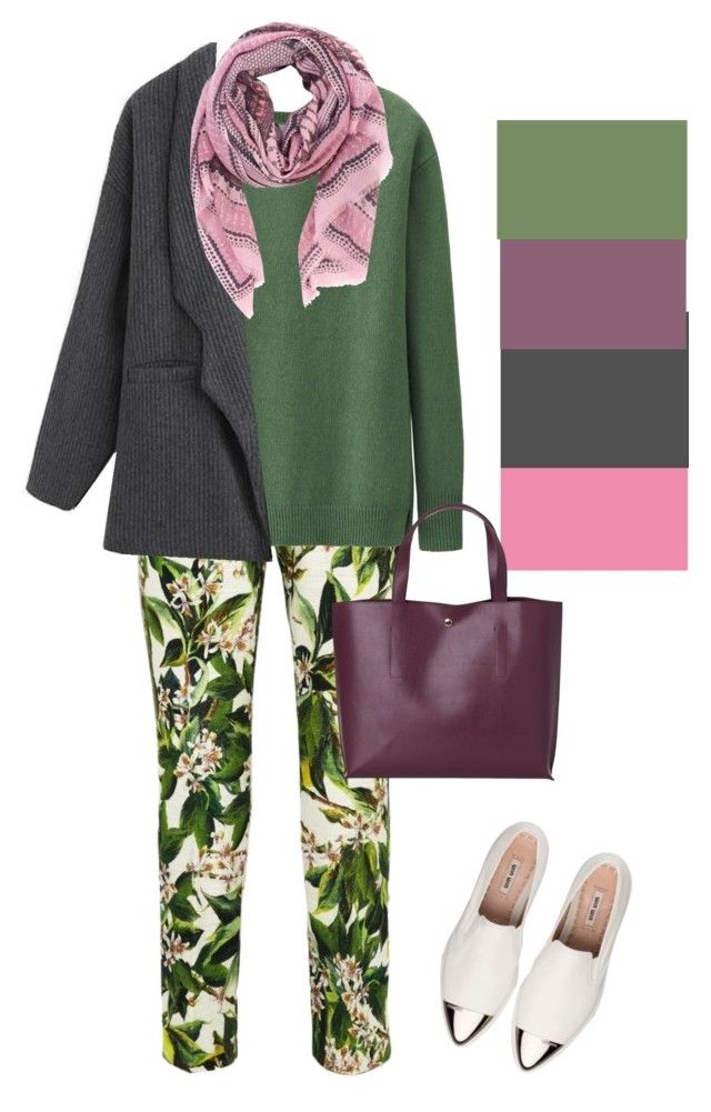"""Осенний лук"" by lstrenina ❤ liked on Polyvore featuring Uniqlo, Chicnova Fashion, Friendly Hunting and Miu Miu"