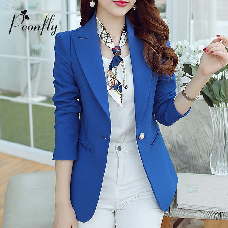 Fashion Ladies Blazers 2016 Summer Suit Blazers Women Jacket Plus Size S-XXL Blaser Female Single Button Blazer Femme