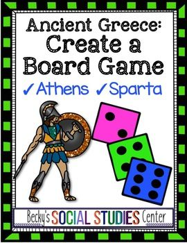 Create a Board Sport of Historic Greece – Athens and Sparta