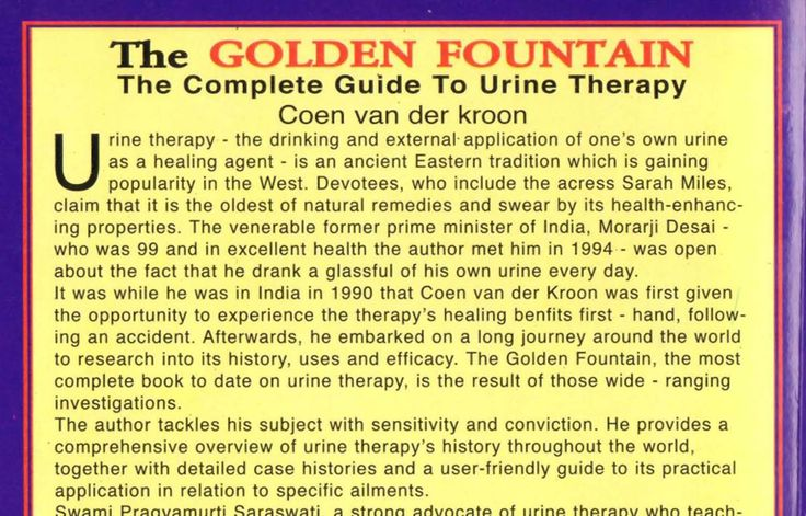 The Golden Fountain Urine Therapy