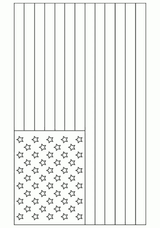 American flag - Free Printable Coloring Pages