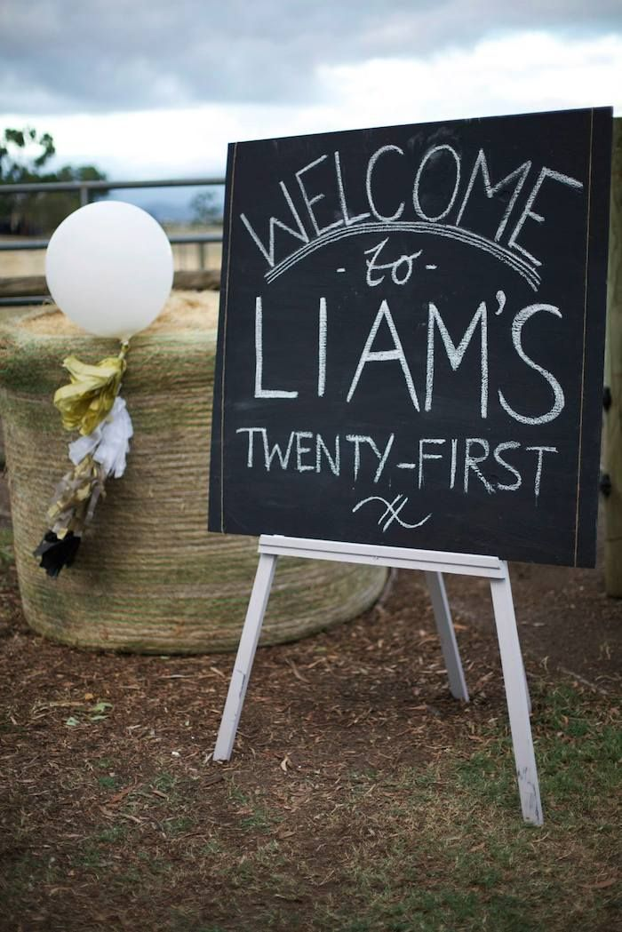 Image result for male black and white 21st birthday party ideas