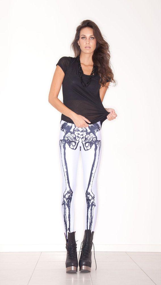 skeletonBlack Milk, Fashion, Style, Clothing, Skeletons Legs, Pants, Bones, Halloween, Leggings