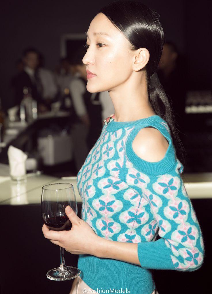 Zhou Xun in chanel sweater