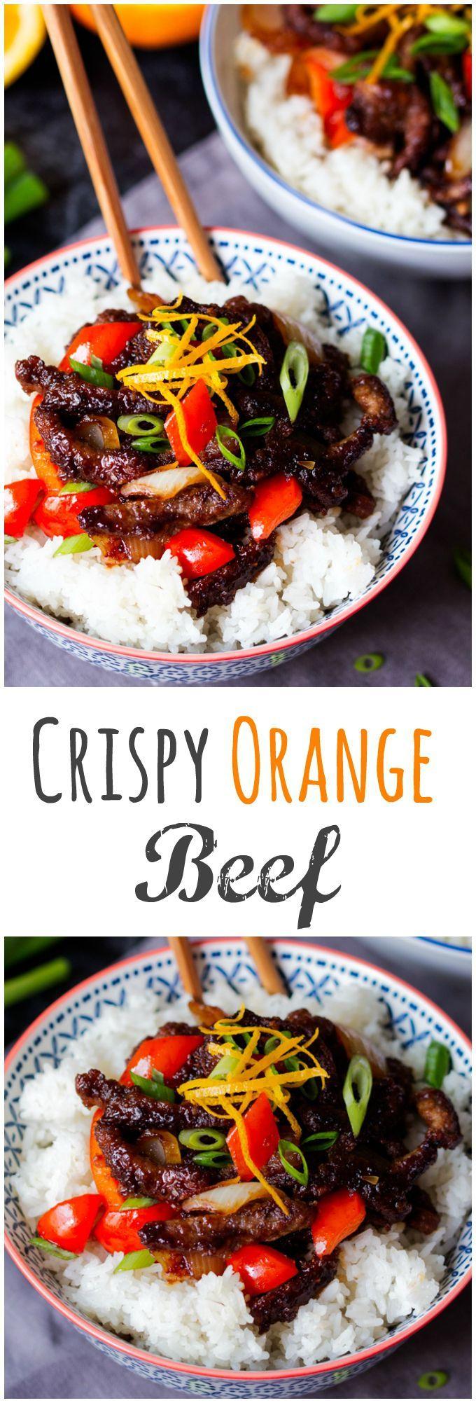Crispy Orange Beef - easy and soooo delicious!