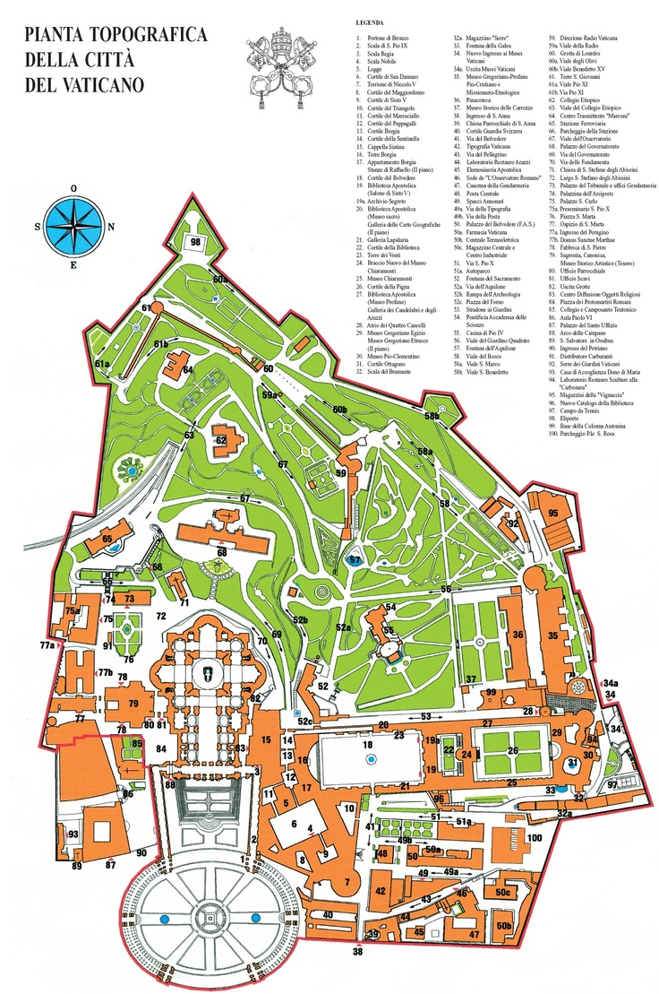 Map of Vatican City MAP OF VATICAN GARDENS (guided tour only) http://www.travelbrochures.org/254/europa/travel-the-pious-vatican-city-for-a-getaway  http://www.pbase.com/bmcmorrow/vaticancity http://www.mapaplan.com/travel-map/rome-italy-top-tourist-attractions-printable-city-map/rome-top-tourist-attractions-map-11-Vatican-City-must-do-favourite-major-landmarks-map.jpg http://www.visitacity.com/en/rome/attractions/vatican-gardens