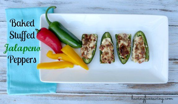 Baked Stuffed Jalapeno Peppers #Recipe
