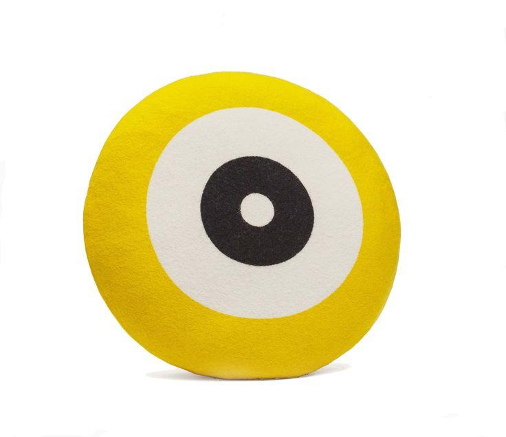 Wendt Design pude – Dot i gul farve - Tinga Tango Designbutik