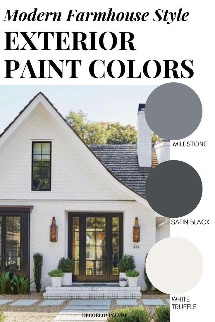 Modern Farmhouse Style Exterior Paint Colors In 2020 House Paint