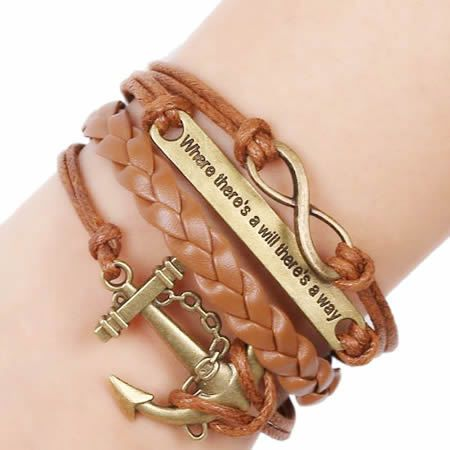 Beadsnice wholesale hand stamped real leather punk bangle leather jewelry supplies ID 32084