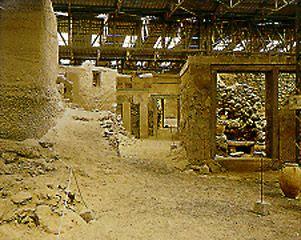 Archaeological site of akrotiri Santorini Greece