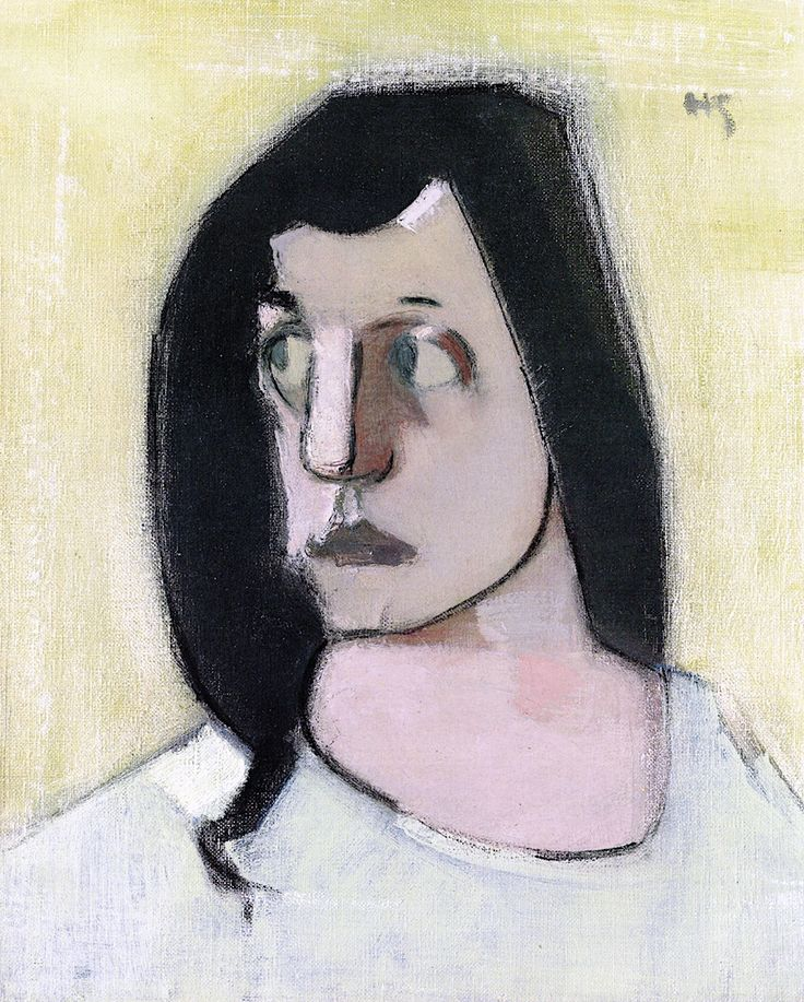 The Athenaeum - Woman with Black Hair (Helene Schjerfbeck - )