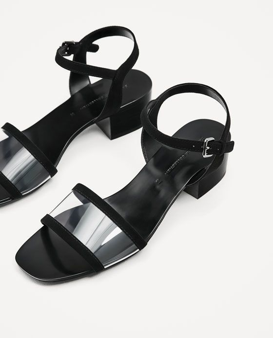 Image 4 of HIGH-HEEL SANDALS WITH ANKLE STRAP from Zara