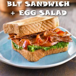 Rachael Ray Mashup Sandwich: BLT Deviled Egg Salad Sandwich Recipe