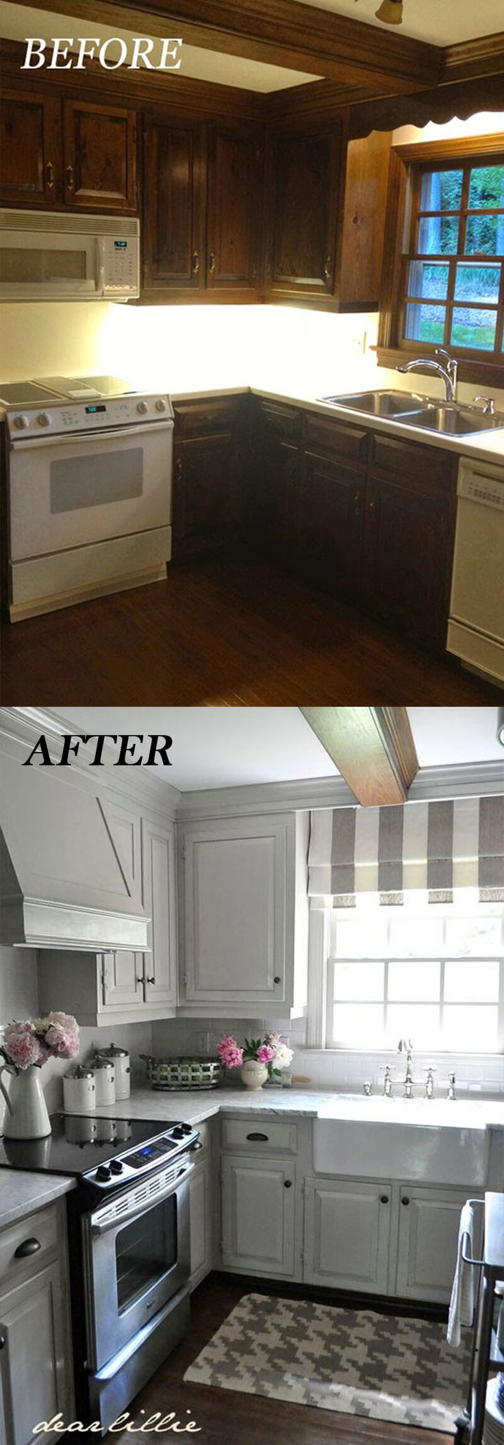 25 amazing before and after budget friendly kitchen for Cheap kitchen makeover ideas before and after