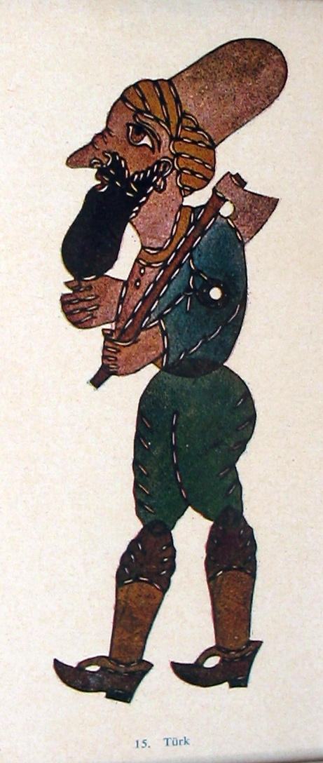 Karagöz - Turkish story telling tradition and shadow theater.The Turk. Probably by Ragıp Tuğtekin (1891-1982)