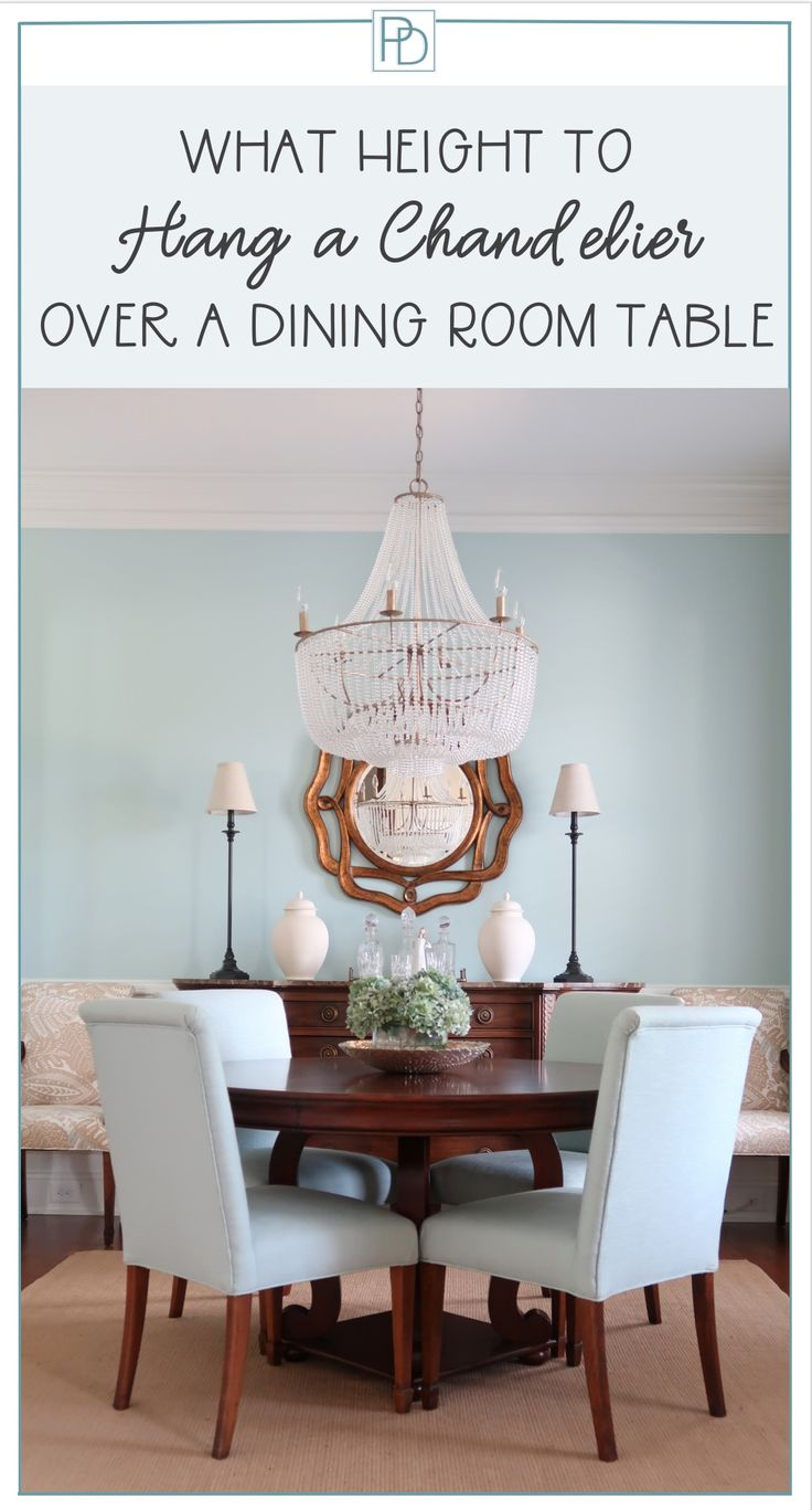 Looking For How High You Should Hang Your Chandelier Over Your