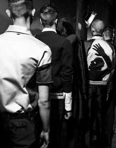 Lanvin FW14/15 backstage.