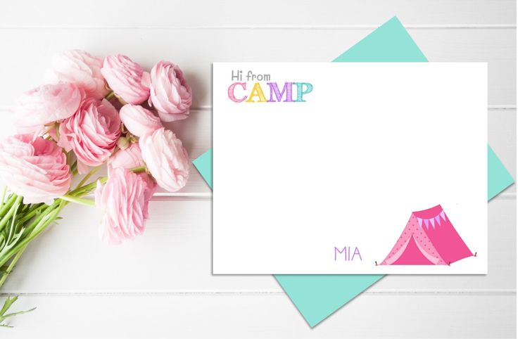 Personalized CAMP Stationery Set | Girl Camp Notes | Camp Stationary | Summer Camp Note Cards | Childrens Stationary by thegatheringplaceco on Etsy https://www.etsy.com/listing/294490677/personalized-camp-stationery-set-girl