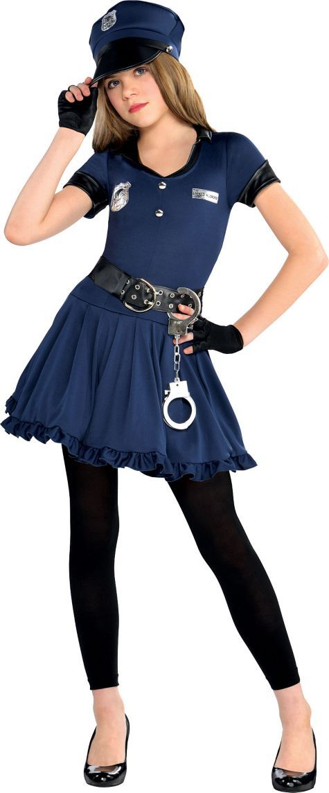 Girls Cop Costume - Party City                                           I might be this!!!!!!!