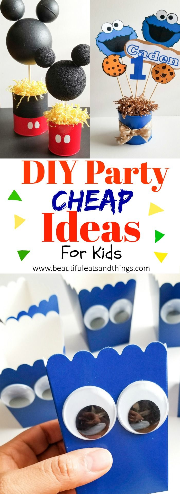 Plan the ULTIMATE kid's party on a budget! Cheap and easy diy party ideas your kids will love!! diy party | diy kids party | mickey mouse party | birthday party | cookie monster party | cheap party ideas | diy mickey mouse birthday party | diy cookie monster birthday party | first birthday party