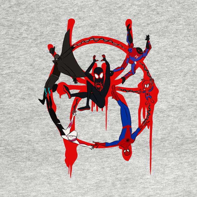 Into the SpiderVerse Symbol (Color) Spider Man T