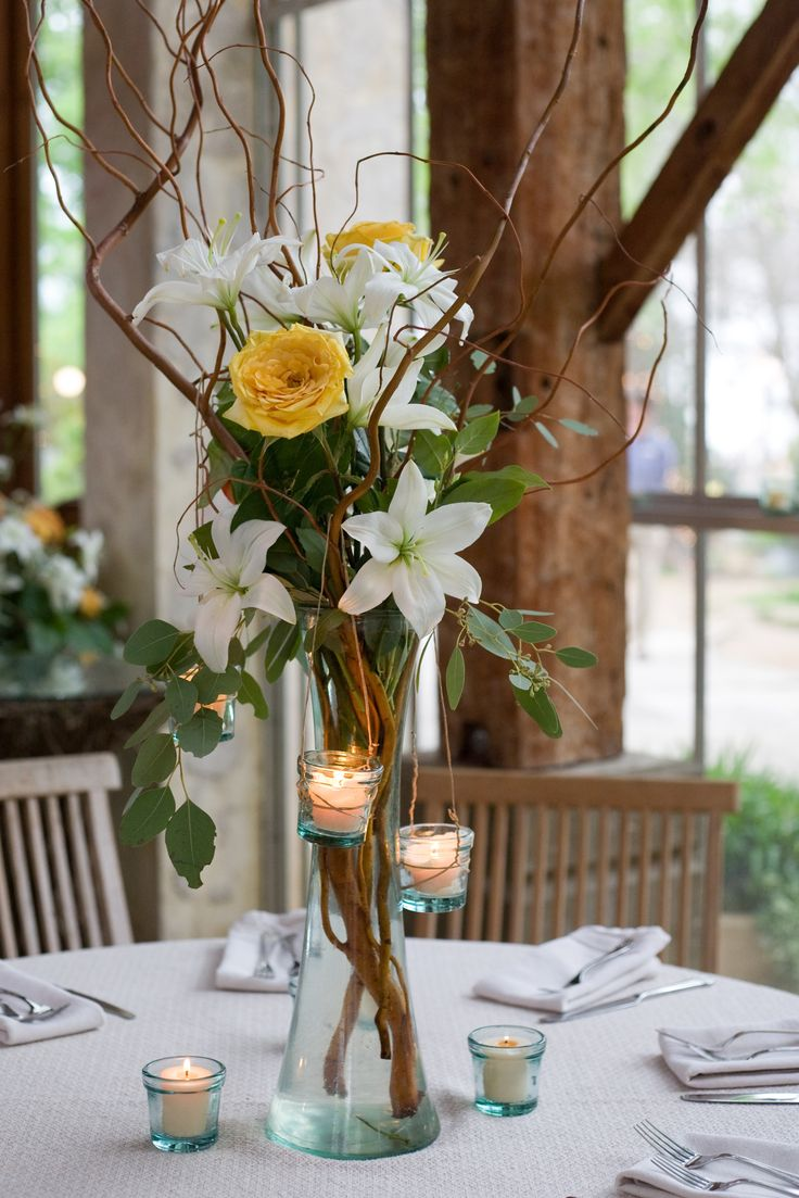 Curly willow hanging candles and centerpieces on pinterest