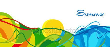 Download - RIO 2016. Summer Olympic and Paralympic Games abstract background. Brazil summer games wallpaper. Rio de Janeiro Sport Athletic Vector illustration — Stock Illustration #116285366