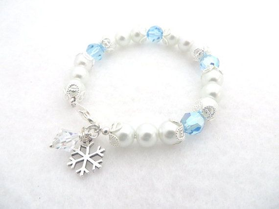 Kids Bracelet Disney Frozen Bracelet Elsa Anna Children Jewelry Frozen Jewelry Sterling Silver Snowflake Valentine's Day Gift Birthday Gift