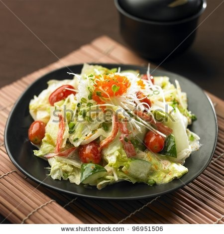 http://image.shutterstock.com/display_pic_with_logo/632128/96951506/stock-photo-japanese-salad-with-tomato-iceberg-lettuce-cucumber-and-crab-stick-96951506.jpg