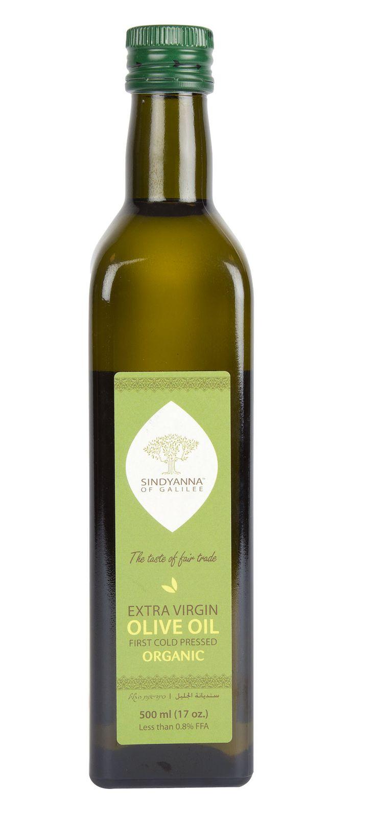 Olivolja; ekologisk Extra Virgin från Galiléen. Fair Trade.