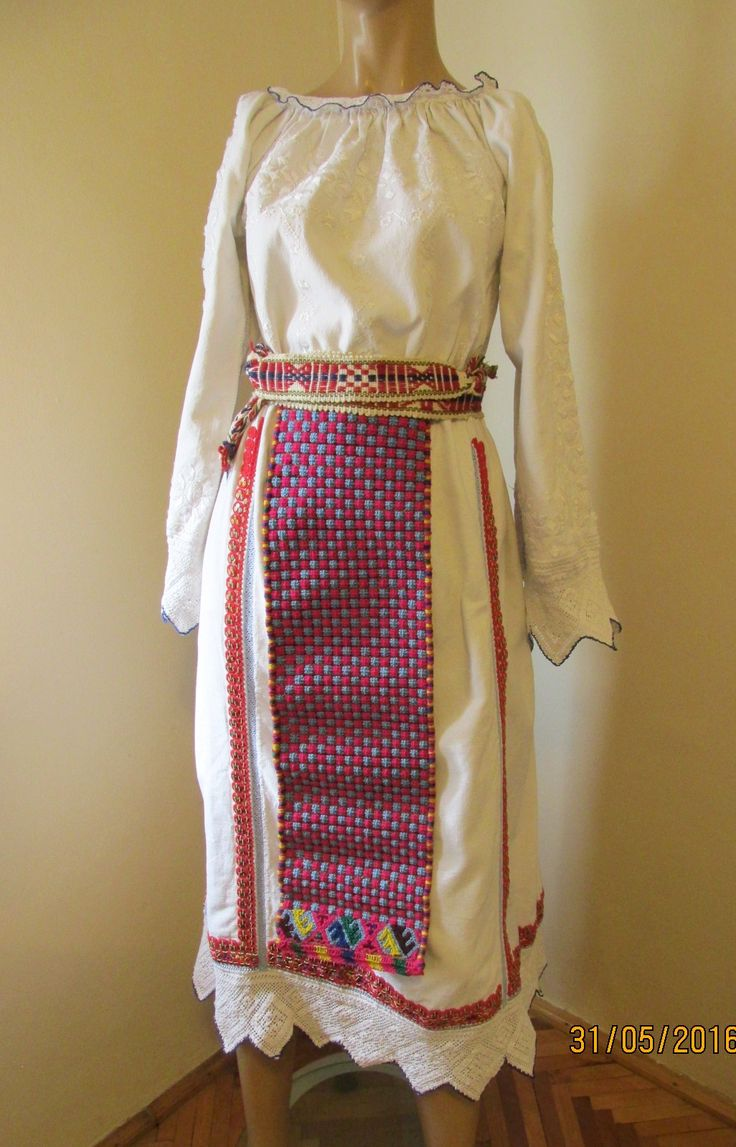 Antique hand made Romanian costume from Banat, Romanian peasant costume for sale at www.greatblouses.com