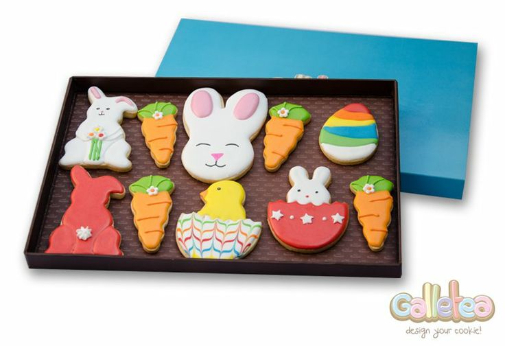 Pack grande especial Pascua en color rojo: http://www.galletea.com/galletas-decoradas/