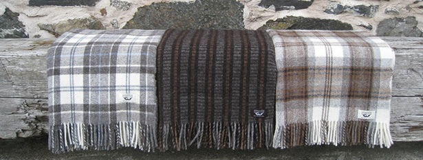 Stunning blankets by Ardalanish Isle of Mull