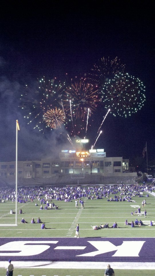 this was at my first K-State Football game (amazing!!)