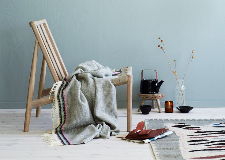 Anderssen & Voll will exhibit a collection of blankets for Røros Tweed inspired by the Norwegian tradition of woven wall coverings