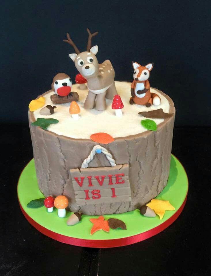 A very cute seasonal 1st birthday cake
