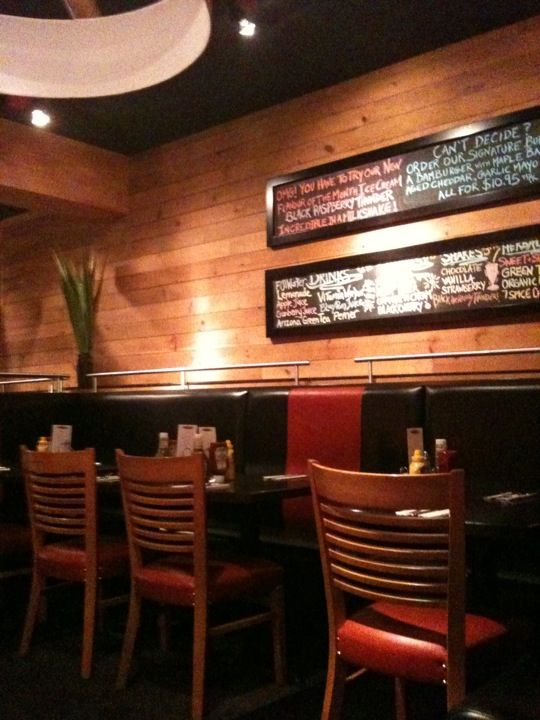 """""""Bamburger is my go to place when I'm craving a gourmet burger. This place is super comfortable with dim-lights, warm colored interior and has a woody cabin feel to it. The staff here are friendly and provide great service."""""""